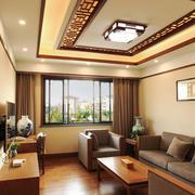 中式风格古典精致小户型客厅装修效果图