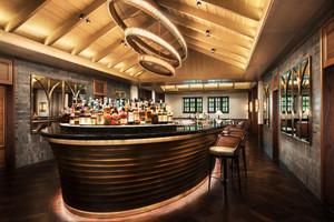 美式风格时尚创意酒吧吧台装修效果图