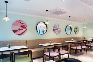 混搭风格时尚清新餐厅设计装修效果图