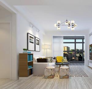 72平米北欧风格简约两室两厅室内装修实景图