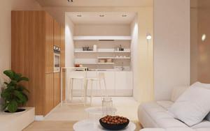 54平米简约风格单身公寓设计装修效果图
