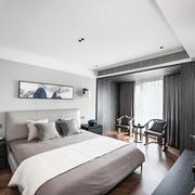 后现代风格冷色调精美卧室装修效果图赏析