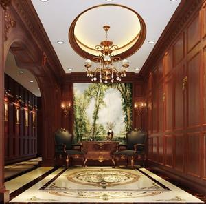 300平米美式风格奢华别墅室内装修效果图赏析
