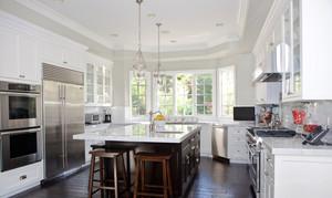 美式风格精致别墅厨房设计装修效果图