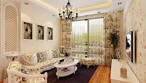欧式田园风格温馨一居室室内装修效果图