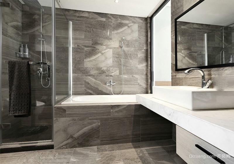 现代风格灰色时尚卫生间设计装修效果图