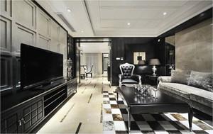 新古典主义风格两室两厅室内设计装修实景图