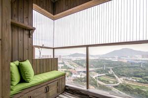 乡村风格温馨阳台飘窗设计装修效果图