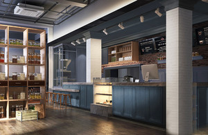 美式风格精美咖啡厅设计装修效果图