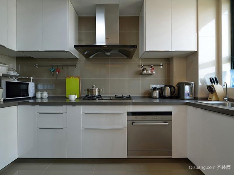 现代简约风格精致整体厨房设计装修效果图