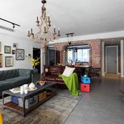 美式混搭风格精美时尚客厅设计装修效果图