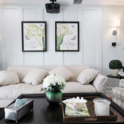 美式风格精美浅色温馨客厅装修效果图