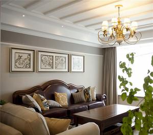 美式风格精致时尚三室两厅室内设计装修效果图