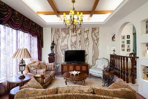 289平米美式田园风格别墅室内装修效果图