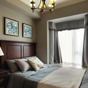 美式风格复古精美卧室设计装修效果图