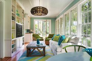 欧式风格别墅室内清新客厅设计装修效果图