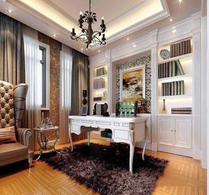 欧式风格经典时尚书房设计装修效果图