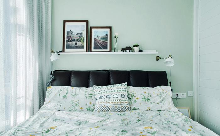 清新风格素雅小户型卧室装修效果图