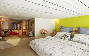 64平米欧式田园风格loft设计装修效果图赏析
