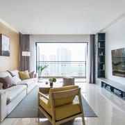 宜家风格简约清新客厅设计装修效果图