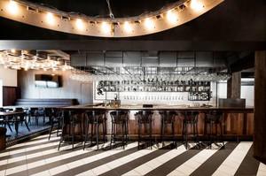 后现代风格工业风酒吧吧台设计装修效果图