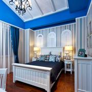 地中海风格精美蓝色儿童房设计装修效果图