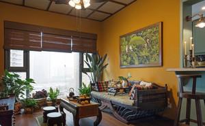 东南亚风格复古精致客厅设计装修效果图
