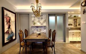 美式风格复古精美餐厅设计装修效果图