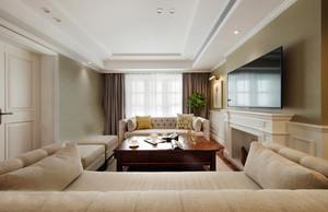 美式风格温馨暖色客厅设计装修效果图鉴赏