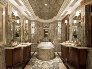 美式风格奢华别墅卫生间装修效果图