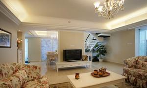 欧式田园风格精美复式楼室内设计装修效果图