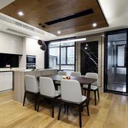 现代风格精致开放式厨房餐厅装修效果图