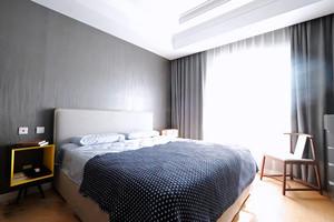 现代风格冷色调卧室设计装修效果图赏析
