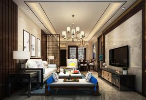 中式风格古典精致客厅设计装修效果图