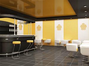 现代简约风格时尚咖啡厅吧台装修效果图