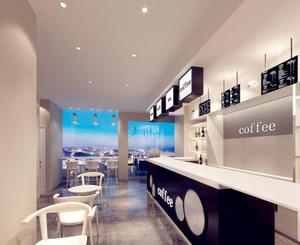 现代简约风格咖啡厅吧台设计装修效果图