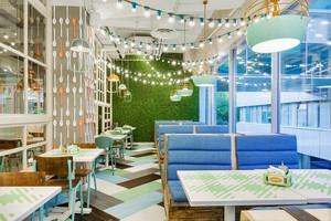 清新风格时尚文艺咖啡厅设计装修效果图