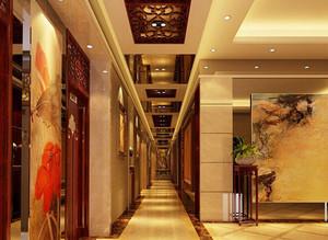 中式风格宾馆过道设计装修效果图赏析