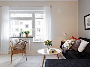 北欧风格简约小户型客厅设计装修效果图赏析