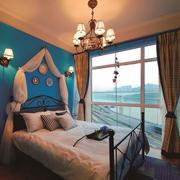 地中海风格冷色调精美卧室合计装修效果图