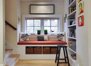 简欧风格精美楼梯飘窗设计装修效果图