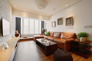 乡村风格主题自然舒适两室两厅室内装修效果图