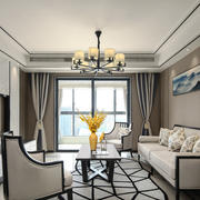 新中式风格客厅电视背景墙装修效果图赏析