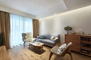 91平米宜家风格简约三室两厅室内装修效果图