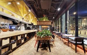 后现代风格时尚餐厅设计装修效果图赏析
