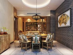 中式风格精致餐厅包厢装修效果图