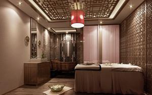 中式风格精致美容院包厢装修效果图