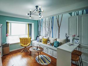 北欧风格简约小户型客厅装修效果图