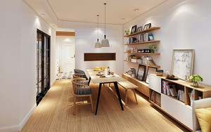 65平米北欧风格简约一居室装修效果图赏析