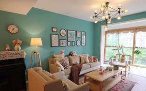 混搭风格清新客厅设计装修效果图